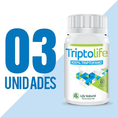 TriptoLife - 3 potes - Auxilia no tratamento de ansiedade, insônia e depressão